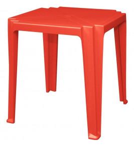Mesa Plastica Monobloco Tambau Vermelha